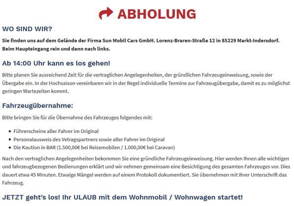 Abholung in  Deutschland