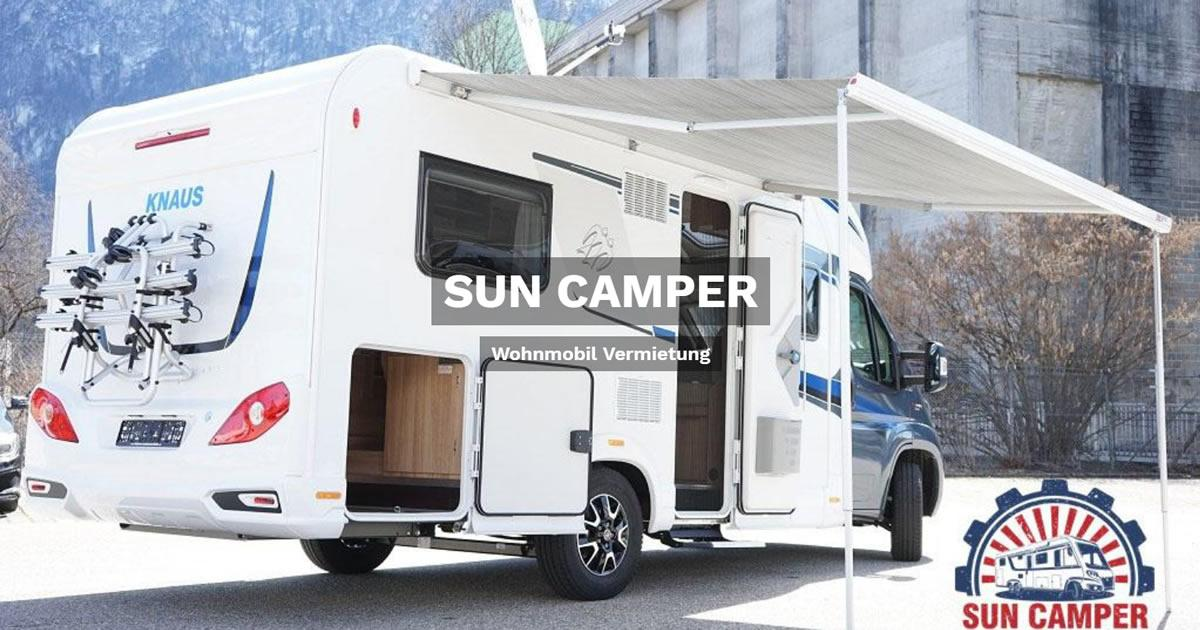 Wohnmobilvermietung Gerolstein - SUN CAMPER: Wohnwagen mieten, Reisemobil, Caravan, Wohnanhänger