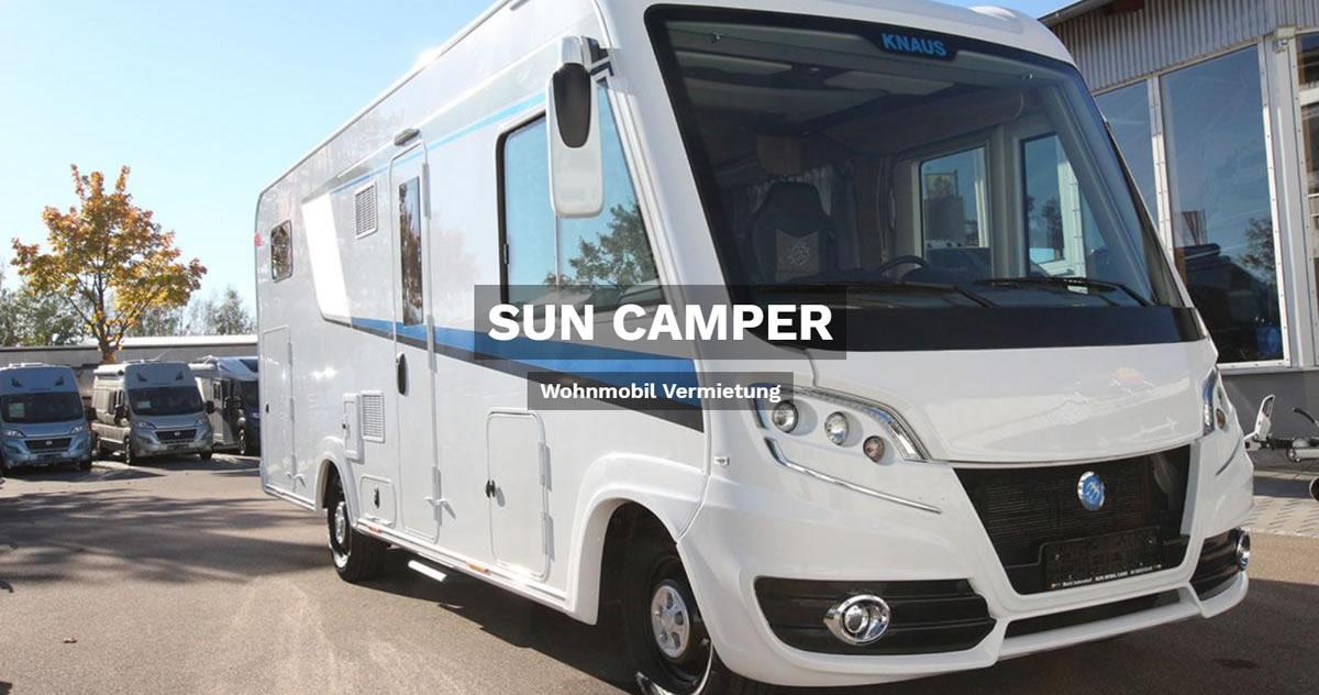 Wohnmobilvermietung Heilbronn - SUN CAMPER: Wohnwagen mieten, Caravan, Reisemobil, Wohnanhänger