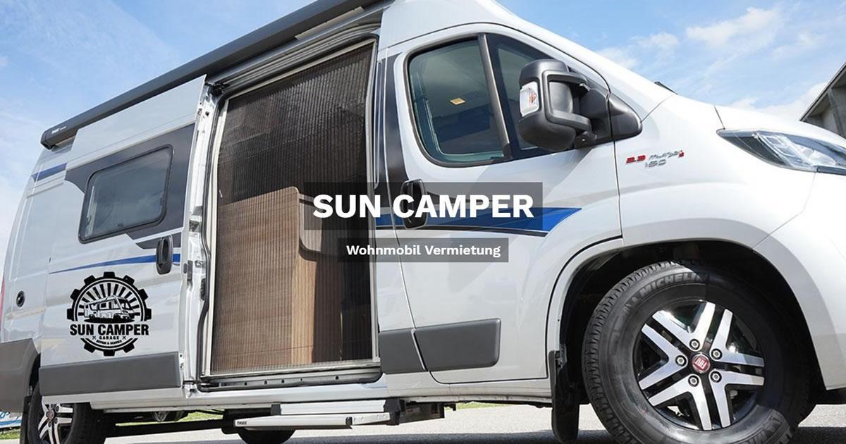 Wohnmobilvermietung für Riekofen - 🥇 SUN CAMPER: Wohnwagen mieten, Caravan, Reisemobil, Wohnanhänger