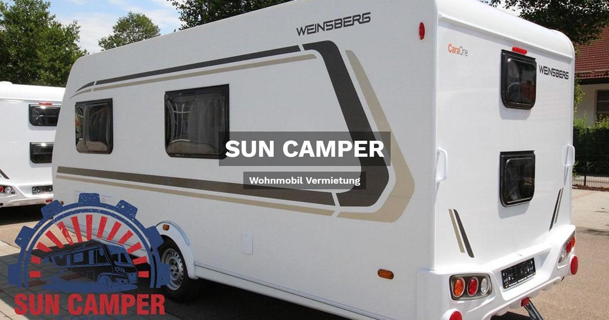 Wohnmobilvermietung Obersulm - SUN CAMPER: Wohnwagen mieten, Reisemobil, Caravan, Wohnanhänger