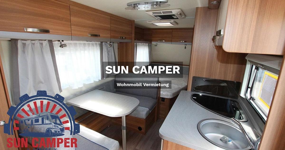Wohnmobilvermietung Verl - SUN CAMPER: Wohnwagen mieten, Caravan, Reisemobil, Wohnanhänger