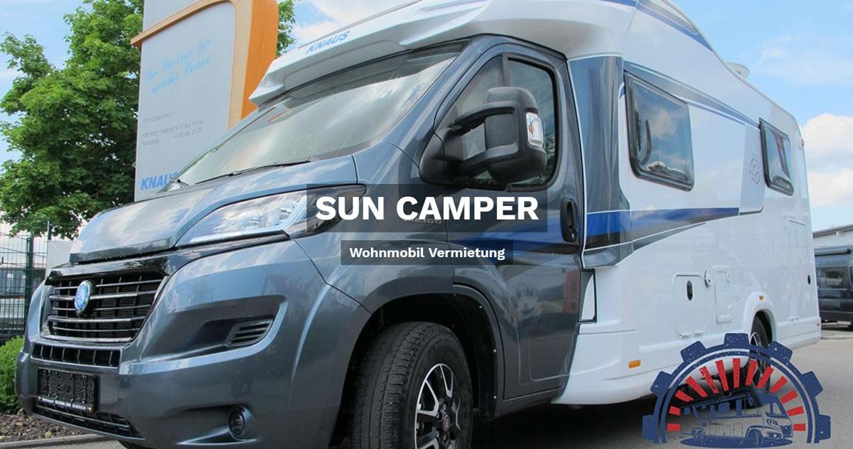 Wohnmobilvermietung Weinsberg - 🥇 SUN CAMPER: Wohnwagen mieten, Reisemobil, Caravan, Wohnanhänger